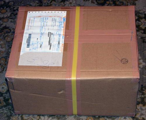 Коробка-посылка от сервиса InJapan