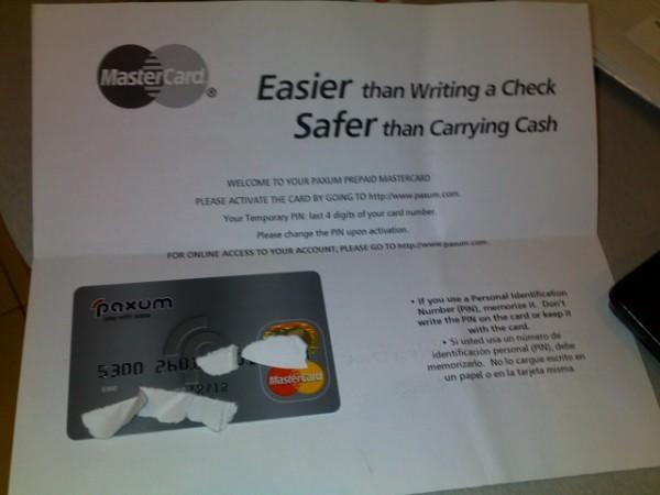 Персональная пластиковая карта MasterCard от Paxum