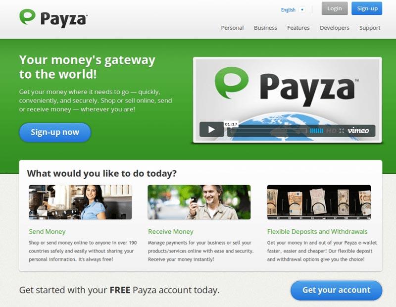 Официальный сайт Payza (AlertPay)
