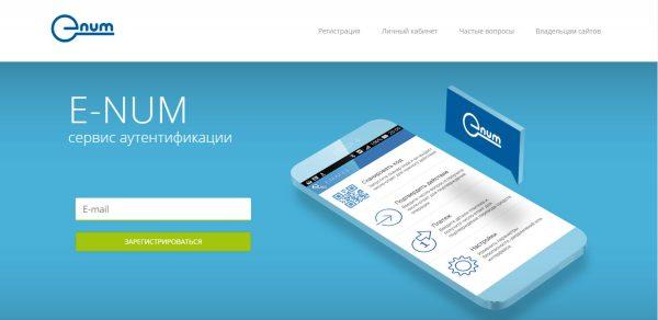 Главная страница сервиса E-NUM
