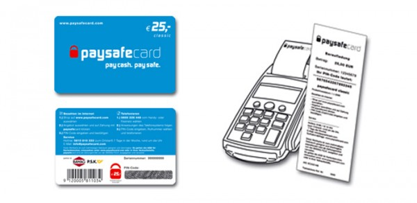 Покупка карты PaySafeCard