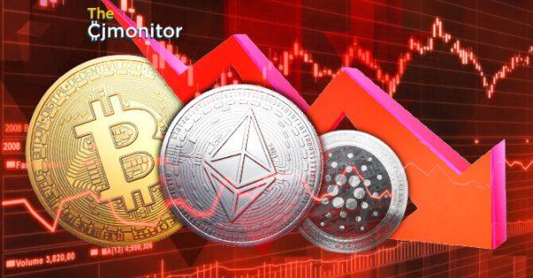 Ethereum падает в цене и тянет за собой другие криптоактивы