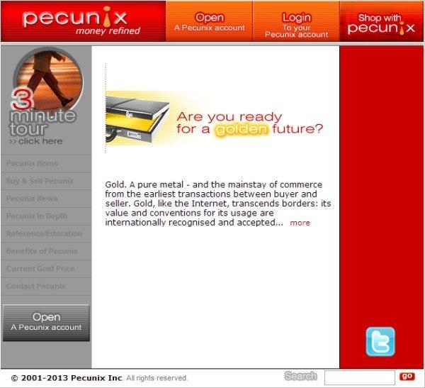 Официальный сайт Pecunix