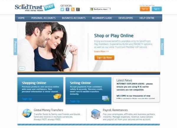 Официальный сайт SolidTrust Pay